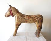 Wooden Goat Large Teak Handcarved Animal Painted