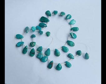 Natural Turquoise Gemstone Loose Beads,39cm In The Length,17x11x5mm,9x7x3mm,23.1g(h0074)