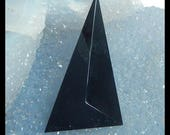 New,Obsidian Faceted Cabochon,53x26x9mm,8.4g