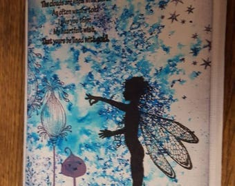 Canvas with magical fairy image