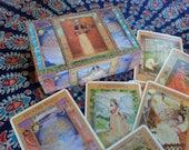 Hand Decoupaged Goddess Tarot Box and Goddess Tarot Deck