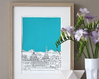 ON SALE Oxford Rooftops Art Print