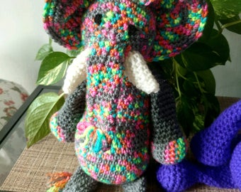 WeeKinder Stuffed Animal Elephant Jellybean