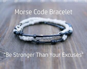 Be Strong Bracelet, Weight Loss Bracelet, Weight Loss Reminder, Lose Weight, Motivational Bracelet, Motivational Jewelry, Motivational Quote