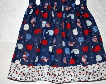 Red,White and Blue  Fun Skirt   Size 2 to 8