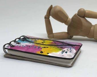 Mini Motley Art Journal #2; ATC size