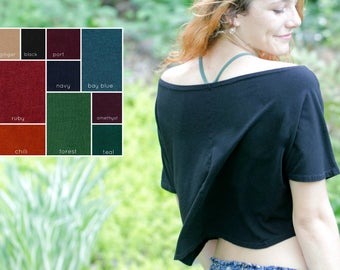 Off The Shoulder Top Bamboo Soy Organic Cotton Jersey Colors Made In The USA