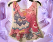 Reserved Custom Listing for Michele E. Care Bears Crop Tank Top with Pink Fringe size Small