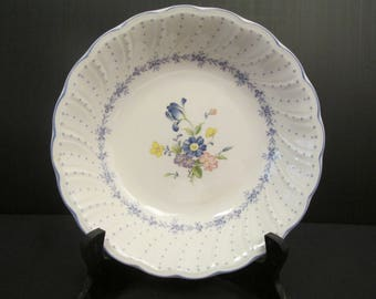 Charming NIKKO Japan Fine Tableware BLUE PEONY Soup Bowl