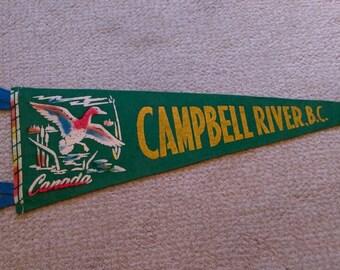 Campbell River, B.C. Pennant flag souvenir