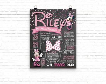 Personalized Minnie Mouse Birthday Poster 11x14