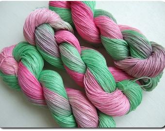 Hand Dyed 100% LINEN yarn, 3 skeins - 300gr (3 x 100 gr)