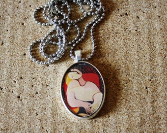 Pablo Picasso,Paint Necklace,Resin Pendant Necklace,Art Pendant,Art,Art Jewelry,Art Necklace,,Paint,starry night,