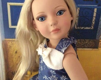 """American Made Girl Doll Clothing-Hawaii 1940 Retro Style Sundress for 18 Inch Dolls Like Robert Tonner's """"My Imagination"""""""