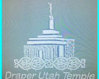 Draper Utah Temple - Lace Edge
