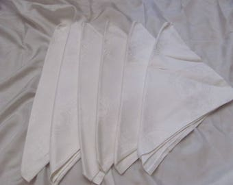 "Napkins Set of 6 Beautiful Cotton Double Damask Fine Linen Dinner Napkins 23"" (1b)"