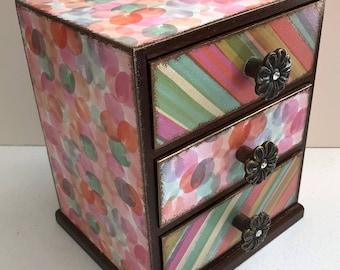 Handmade Decorative Wood Memory/Trinket/Treasure Chest Box