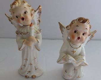 Vintage Artmark Singing Angels (2) Angel Figurines
