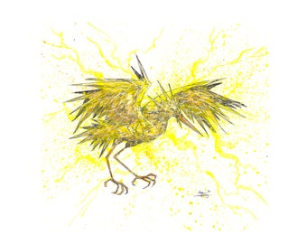 Zapdos 11x14 Signed and Numbered Art Print