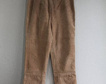 SALE vtg brown suede genuine leather pants