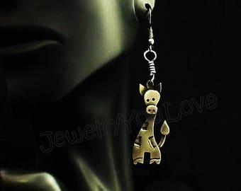 Sterling Silver Giraffe Earrings - GiGi
