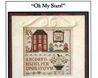 Little House Needleworks: Oh My Stars! - Cross Stitch Pattern
