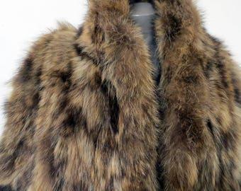Vintage full lenght Raccoon Fur Coat