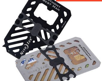 13 of engraved credit card wallet multitool bottle opener groomsman gift - Credit Card Bottle Opener