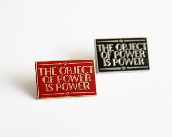 Lie Became Truth Lapel Pin George Orwell 1984 Quotes Black and Silver or Gold Red hard enamel, book lover, literary gifts