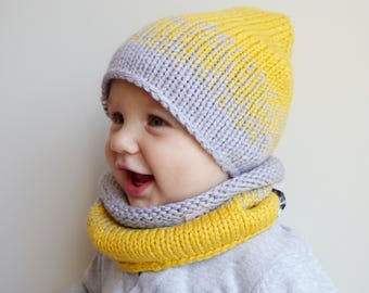 Baby Knit Hat / Baby Knit scarf / Baby Girl Hat / Baby Boy gift / Baby boy hat scarf / Beanie Hat /