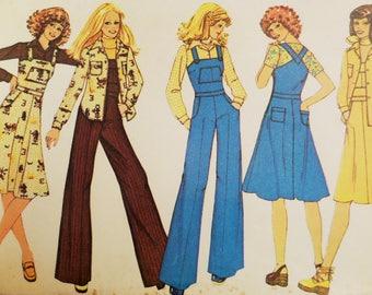 BIB OVERALLS Pattern • McCalls 4616 • Junior 9 • Wide Leg Overalls • Overall Jumper • Sewing Patterns • Vintage Pattern • WhiletheCatNaps