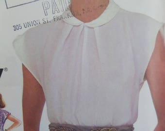 Blouse patterns etsy for Peter pan shirt pattern