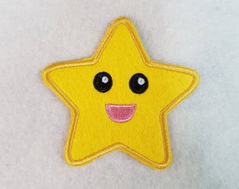 Happy Chibi Star Sew-On Patch