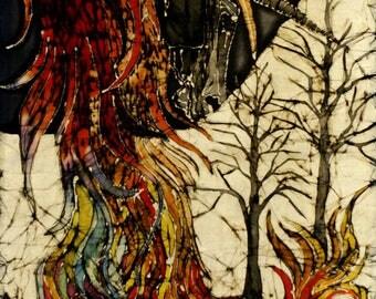 Phoenix batik prints  - print from original batik