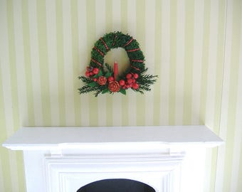 Barbie Or 1:12 Scale Miniature Dollhouse Christmas Wreath