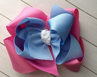 M2m made to match Eleanor Rose Easter Egg Hunt girls double stack hair bow