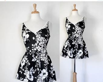 ON SALE Vintage Skirted Swimsuit From The 70s