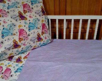 3 Piece DISNEY PRINCESS Toddler Bed Sheet Set . Fitted Sheet, Flat Sheet & Standard Size Pillow Case