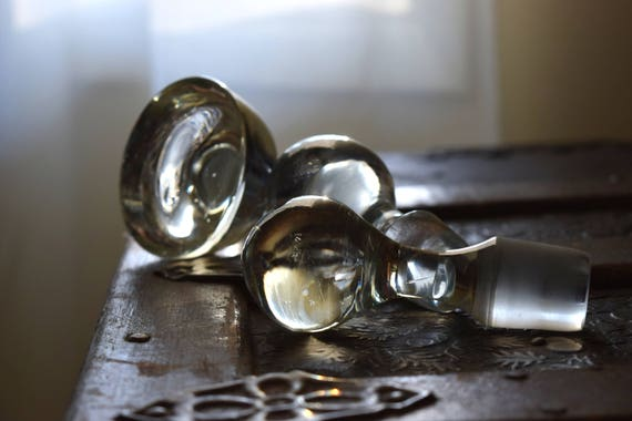 Vintage Glass Bottle Stoppers ~ Photo Prop, Curio, Steampunk