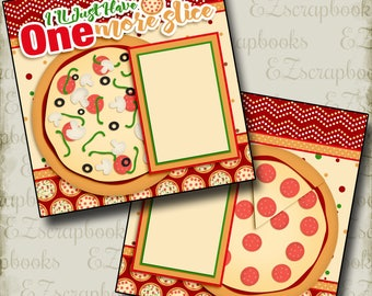 ONE More SLICE - 2 Premade Scrapbook Pages - EZ Layout 2690