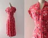 vintage 1940s floral dress // 40s Summer ready dres