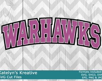 Warhawks Arched SVG Files
