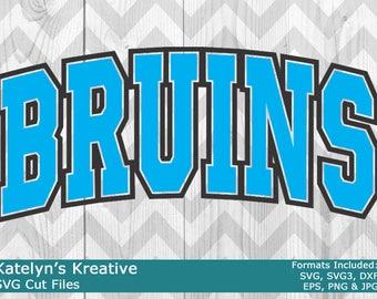 Bruins Arched SVG Files