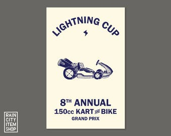 Mario Kart - Lightning Cup Print