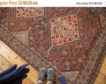 10% OFF RUGS 5x9.5 Antique Shiraz Carpet