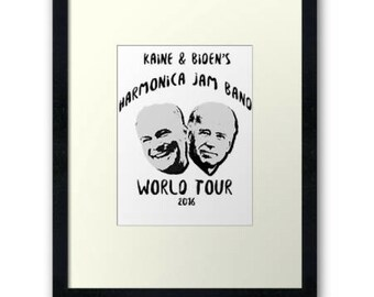 Kaine and Biden's Harmonica Jam Band Digital Download Poster