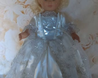 """18"""" Doll Gown - Collectors Edition Angel Gown for 18"""" dolls - OOAK Doll Gown with Angel Wings"""