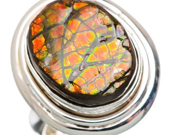 Ammolite 925 Sterling Silver Ring Size 8.75 RING846284