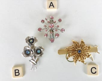 Repurposed Recycled VinTAGE BRooCH turned hair barrette for BRIDAL WEDDING PROM