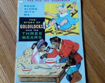 Vintage children's book 'The Story of Goldilocks and the Three Bears', See and Stay Storybook, 1962, Illustrated